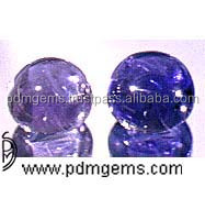 Iolite Gemstone Cabochon Round 6 MM Pair