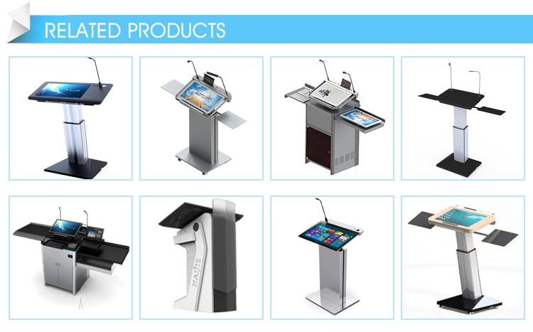 เวทีดิจิตอลมัลติมีเดีย Speech สมาร์ท Lectern Podium สำหรับสมาร์ทห้องเรียน