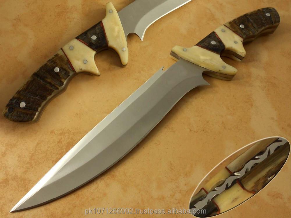 Koki Western Union : 136 alat baja d2 berburu pisau bowieD2Tool baja pisau tetap penuh