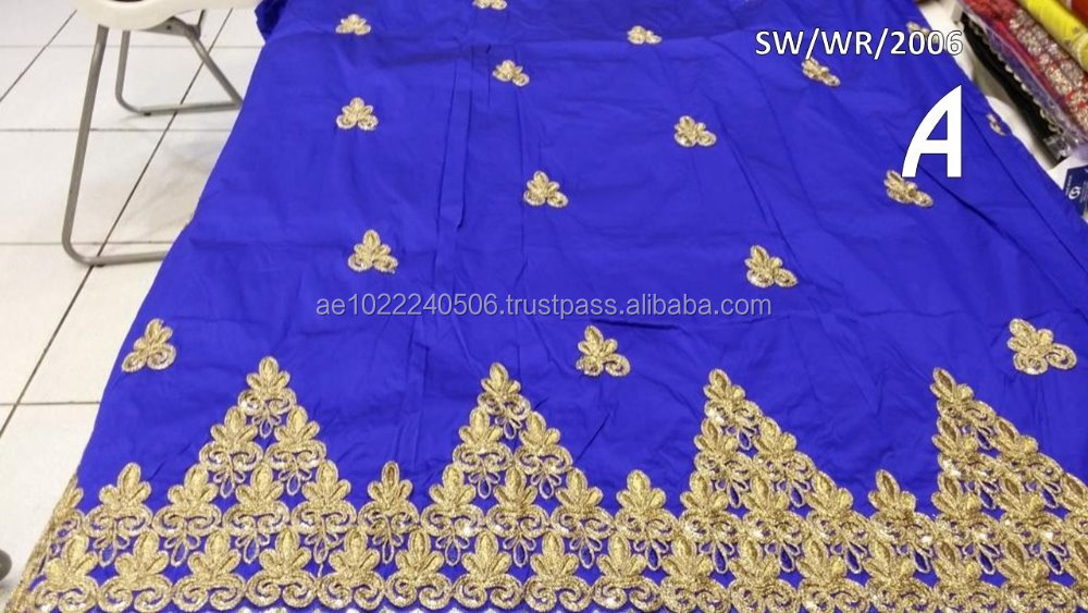 Aso Ebi African George Wrapper saree george 007