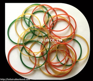 100% Natural mix color Elastic Rubber Bands Professional manufacturer / Transparent green Color Rubber Band For Money