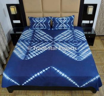 561a96aba540 Tie Dye Bedding Set Indigo Bedspread With Pillow Cover Queen Indian Bed  Cover Bohemian Cotton Bed
