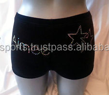 c845e8ca55c3 Personalised Gym/dance Shorts Black High Quaility Velour - Buy High ...