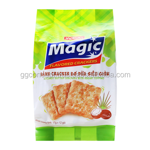 Magic Coconut Butter Crackers with Sugar Topping 17g / Wholesale Biscuit / Sandwich Cookies