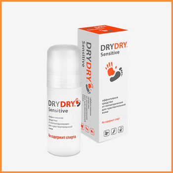 Dry Dry Sensitive - Deodorant for sensitive skin, no alcohol.