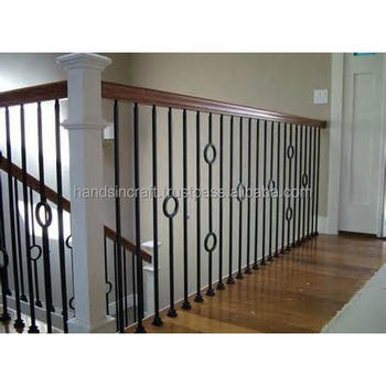 Interior Stair Hollow/Solid Iron Basket Balusters Stairs