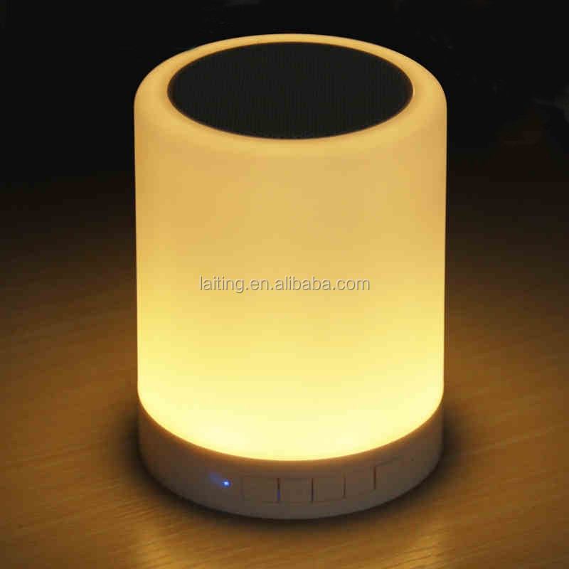 Rechargeable Touch Sensor Led Color Changing Table Lamp With Blue