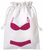 Embroidered Lingerie / Swimsuit travel bag