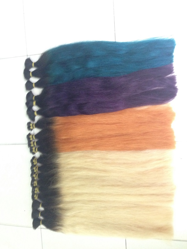 Wholesale colored extension three tone two tone ombre hair weaves human hair extension ombre hair