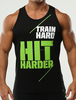 Get your Custom style printed train hard top Cheap Price body building gym singlets tank tops undershirts for men vest wear