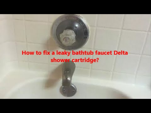 Get Quotations · How To Fix A Leaky Bathtub Faucet Delta Shower Cartridge L  How To Replace A Bathtub