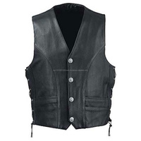 VEST PLAIN LEATHER PREMIUM QUALITY MOTORCYCLE VESTS