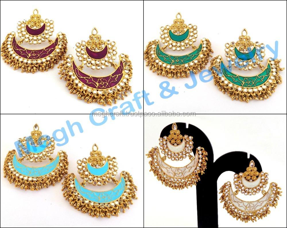 indian kundan earrings,kundan jewellery long earrings,indian ...