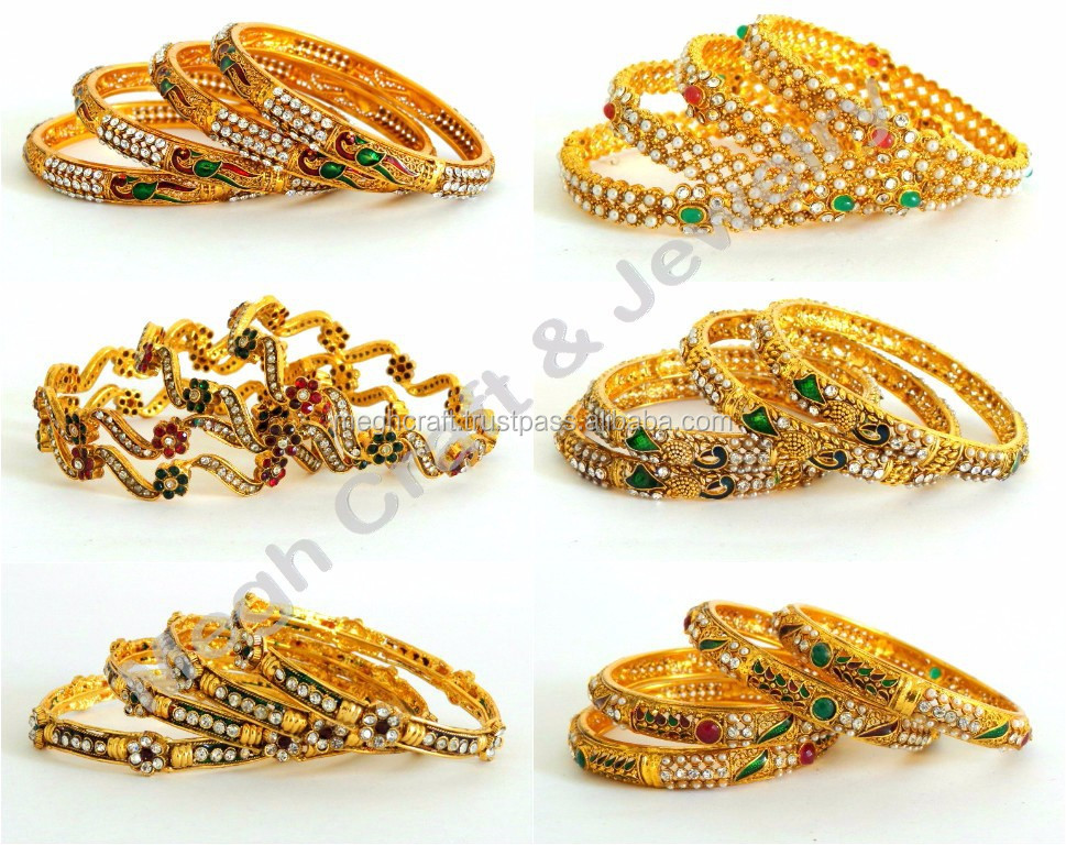 18c008eb10d05 2015 Fashion Bollywood One Gram Gold Polki Bangles-indian Ethnic  Bangles-wholesale One Gram Gold Bangles Jewelry - Buy Imitation Jewellery  One Gram ...