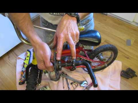 Convert child's bike to balance bike for older learner i.e. strider bike)