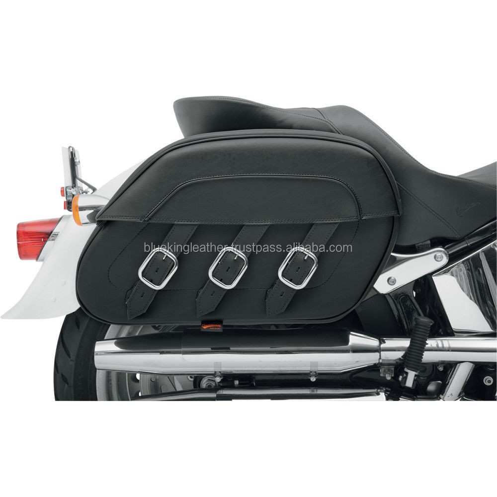 Saddlemen Quick-Detach Slant Motorcycle Saddlebags Drifter Style for Softails