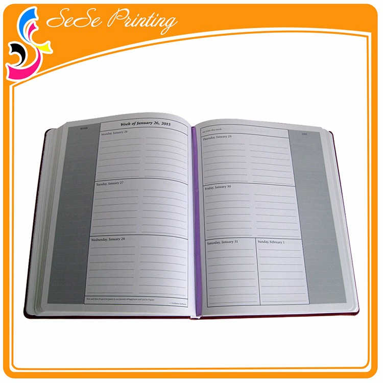 Custom Office Supplier Softcover Diary Notebook With Elastic Strap ...