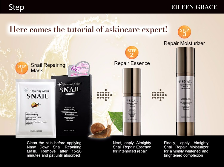 Face Lifting hydrating sensitive skin Snail Recovery Serum