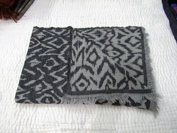 Indian Handmade Printed Wool Blanket Australian Merino Wool Throw ...