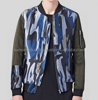Camouflage Bomber Jacket with Zipper for Men Light Nylon Quilted Woman Bomber  Jacket Wholesale  c71b42ba03