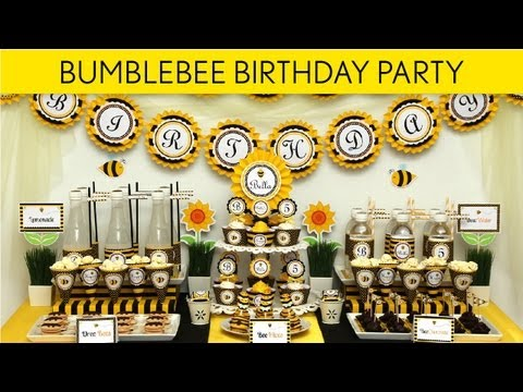 Get Quotations Bumblebee Birthday Party Ideas Smiling