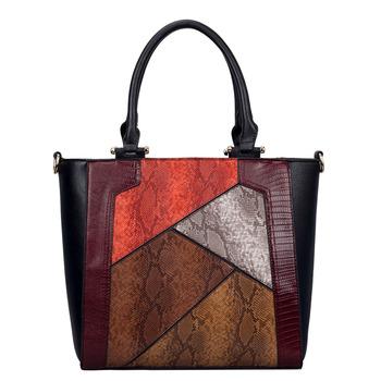Luxury Bag Stylish Faux Snakeskin Pattern Whole Las Tote Bags Women Casual Handbag