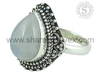 Exclusive Blue Sheen Rainbow Moonstone Ring 925 Sterling Silver Jewelry Wholesaler Silver Jewelry Handmade Jewelry Exporters
