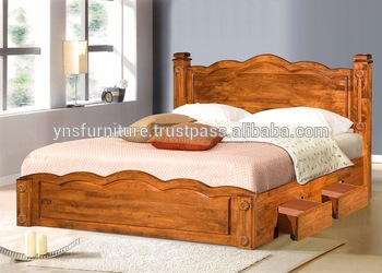 Wood Double Bed Designs With Box 22