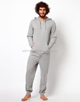 d314ca0f7a10 Cotton Fleece One Piece Jumpsuit Men   Custom Printing Onesies Men ...