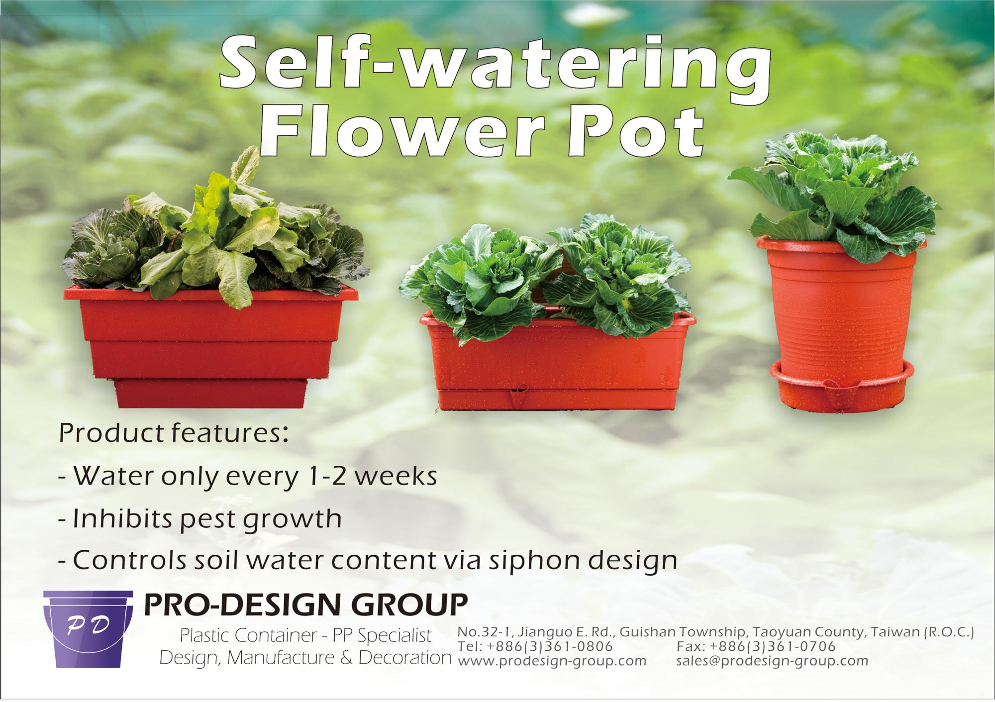 Self Watering 60 CM Flower Plastic Pot / Planter