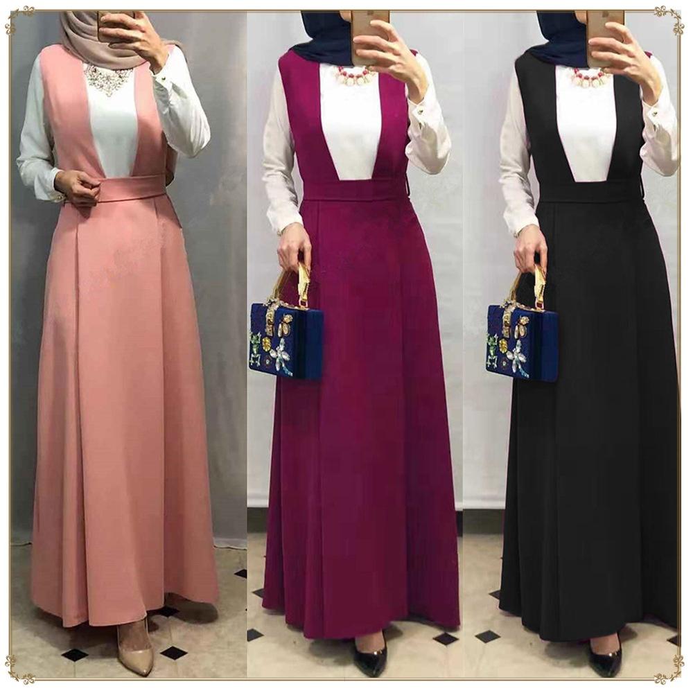 Alibaba.com / Muslim Islamic Fashionable Straps Skirt Casual Dress Muslim Abaya En Chine