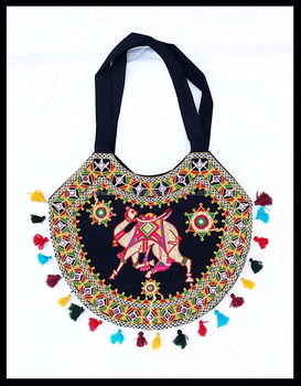 Embroidery Rajasthan Mirror Hand Work Tote Bag