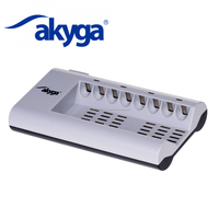 Akyga portable charger Battery charger 8 x AA/AAA AK-BC-02
