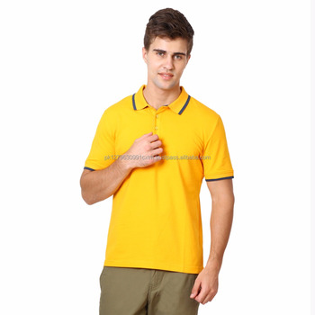 376f92e6e Men'S Pique Polo Yellow Bulk Boys Polo Shirts With Different Styles Polo T  Shirts