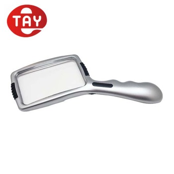 With Dimmable Switch LED Light Handheld Magnifier