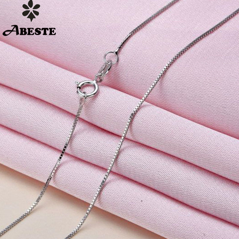 ABESTE Wholesale Fashion Jewelry 925 Silver Box Chains Classic Style
