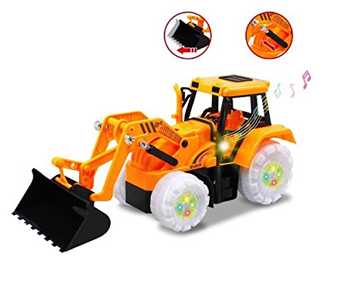 O.B Toys&Gift Electric Bulldozer Bump & Go Construction Building Tractor with Lights & Sound Electric Bulldozer Truck Vehicle Toy for Boys Ages 3+ Yrs
