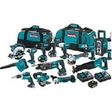 BRIGHTEST! Original NEW Makita Cordless Tool Kit 18 Volt 15 Pc Piece Lithium Ion Combo