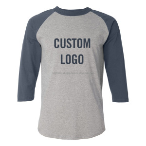 OEM Wholesale Custom 3/4 Sleeve Raglan Baseball T Shirts