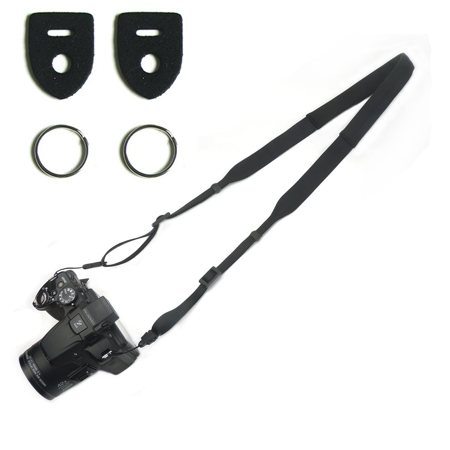 CHMETE Specially Design for Summer Can Be Washed Camera Neck Strap (Black)