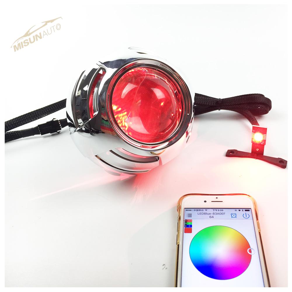Car Headlight Projector Led Condenser Lens With Rgbw Demon Eyes ... for Condenser Lens Projector  570bof