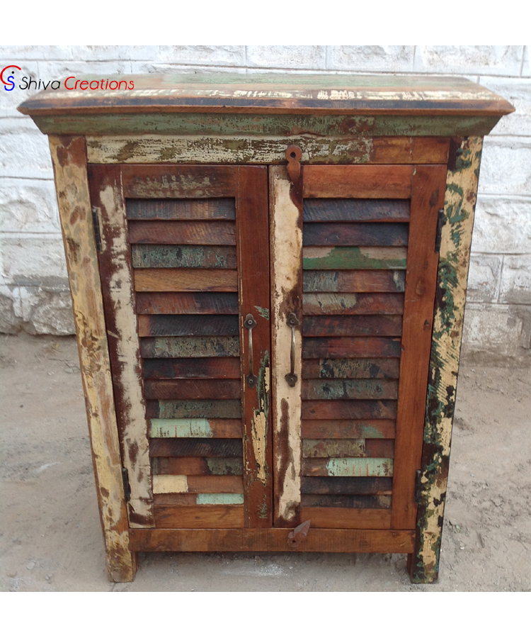 Reclaimed Recycled Wood Kitchen Cabinet, View kitchen ...