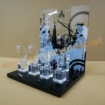 Watches bracelet display stands/ c ring watch display holder /acrylic watch display stand