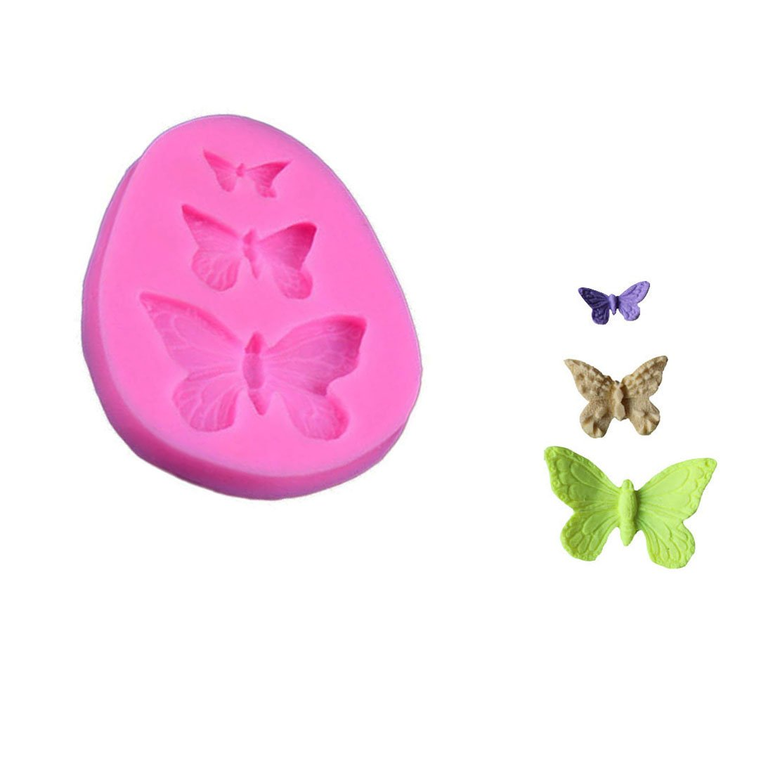 WJSYSHOP Butterfly Shape Silicone Mold Fondant Chocolate Cake Baking Mould – Butterfly