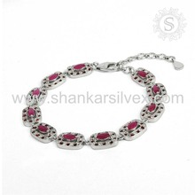 Efficacious multi gemstone bracelet silver jewelry handcraft 925 sterling silver jewels & jewellery manufacturing