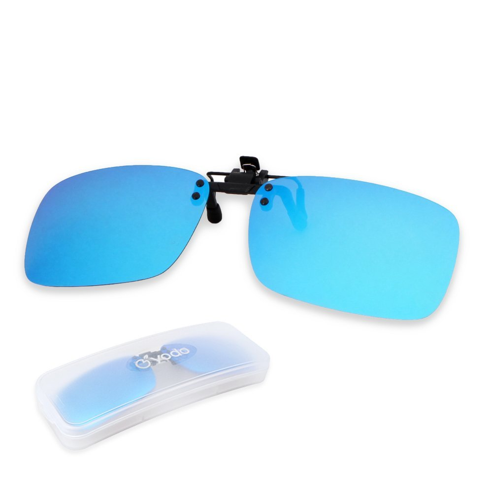 0d661202e8 Get Quotations · Yodo Polarized Flip up Clip on Sunglasses Over Prescription  Glasses for Men Women Driving Fishing Outdoor