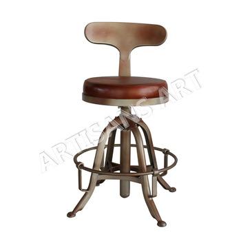 De Rembourrée café Cuir En Métal Hauteur Vintage Manivelle Réglable À Antique Buy Bar chaise Bar Cuir Siège Chaise YeWHb29IED