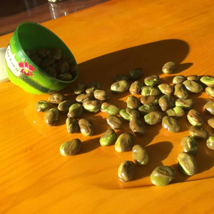 Organic dried green soya lima broad beans