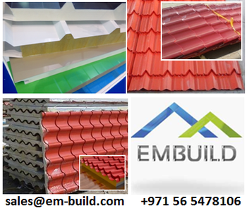 Dubai Embuild - Tile Profile Roof Sheets And Sandwich Panels/ Pu And Pir  Sandwich Panels + 971 56 5478106 Uae/oman/kuwait/qatar - Buy Dubai Embuild  -