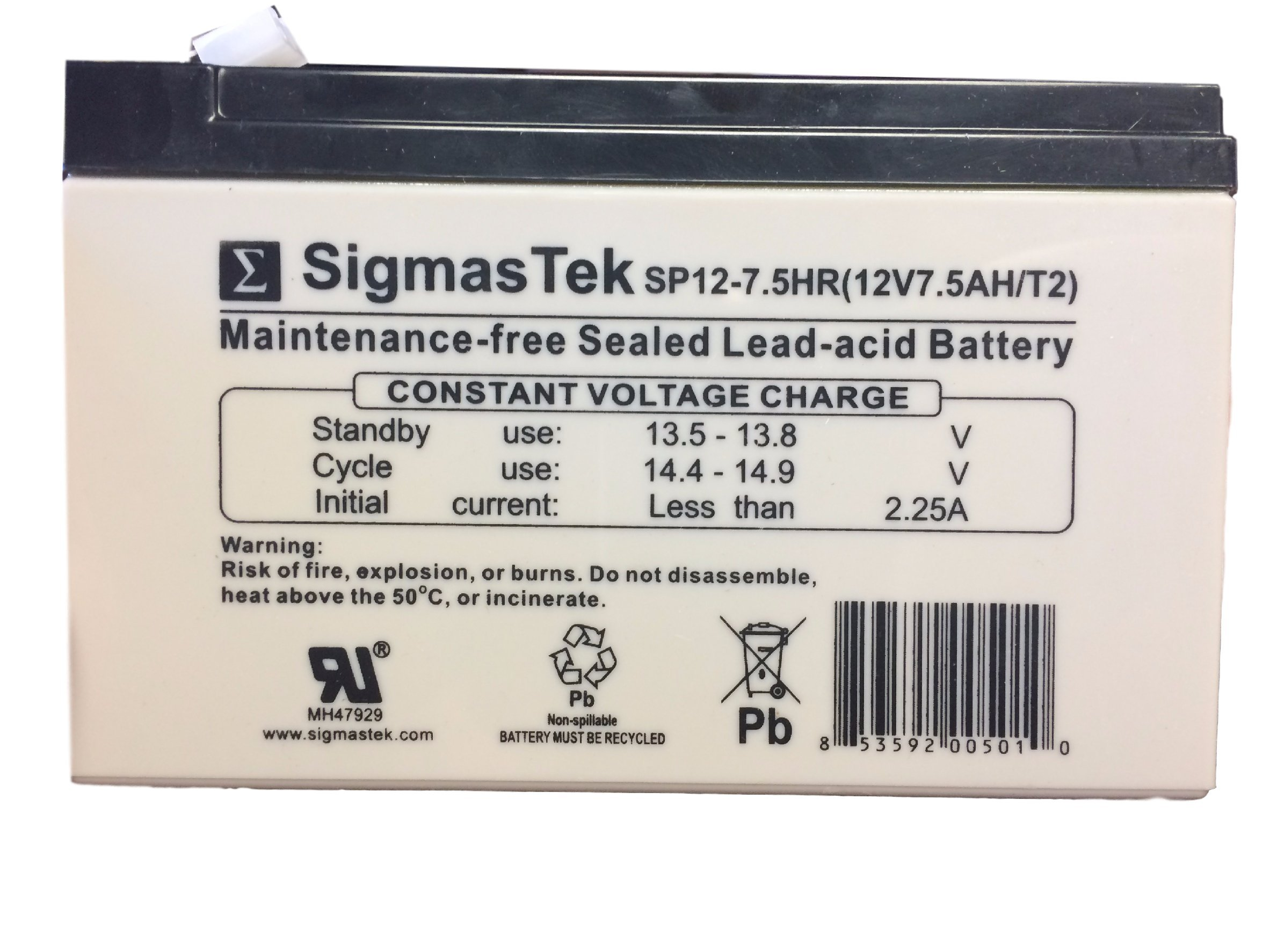 SigmasTek SP12-5.5HR 12V 5Ah UPS Battery This is an AJC Brand Replacement